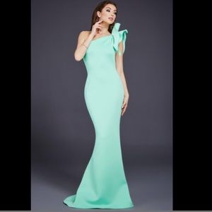 Jovani Evening Gown sz 2 Mint 32602 Mermaid Dress